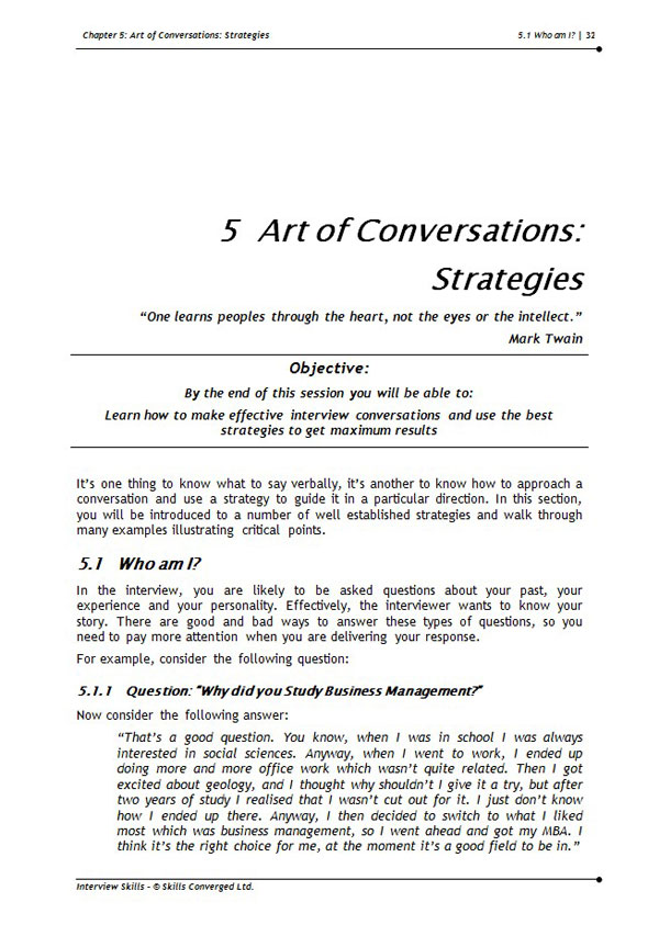 interview dialogue example
