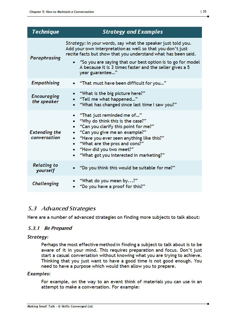 TRAINING MATERIALS HOW TO WRITE A WORKBOOK EXAMPLES -
