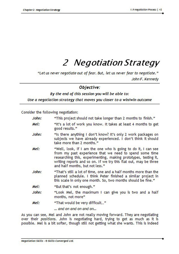 Negotiation Skills for the Petroleum Industry - NSPI
