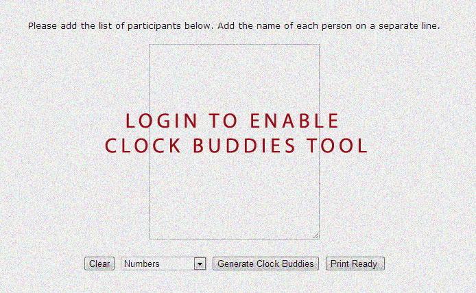 Enable Clock Buddies Printable PDF Template and Worksheet Generator