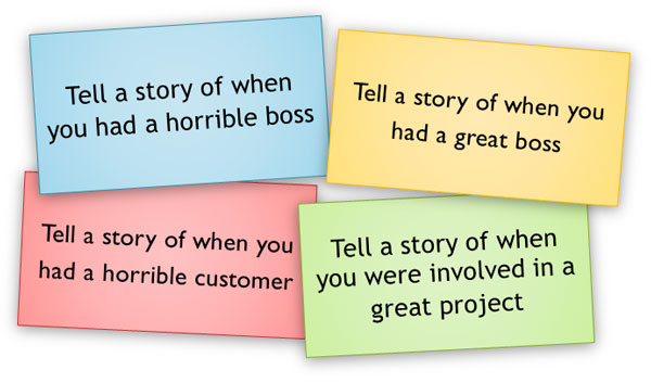 Teamwork Exercise: Tell a Story about Your Past