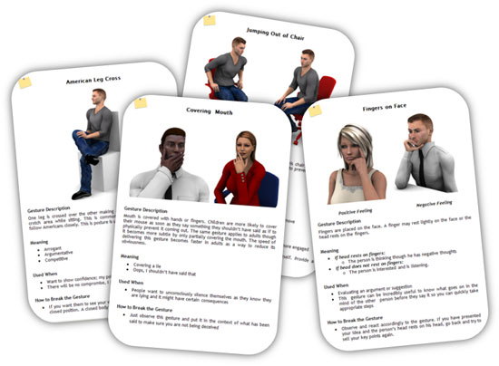 Body Language Cards Part 1